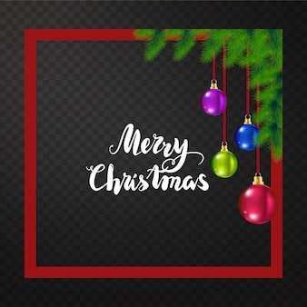Fondo de lujo feliz navidad con elementos de vacaciones