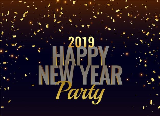 Fondo de lujo fiesta de año nuevo 2019