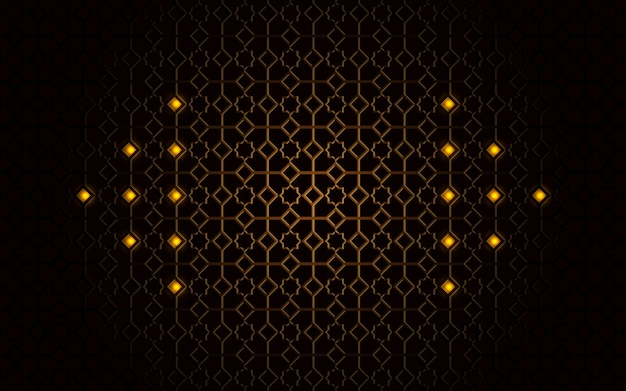 Fondo de lujo con forma abstracta dorada