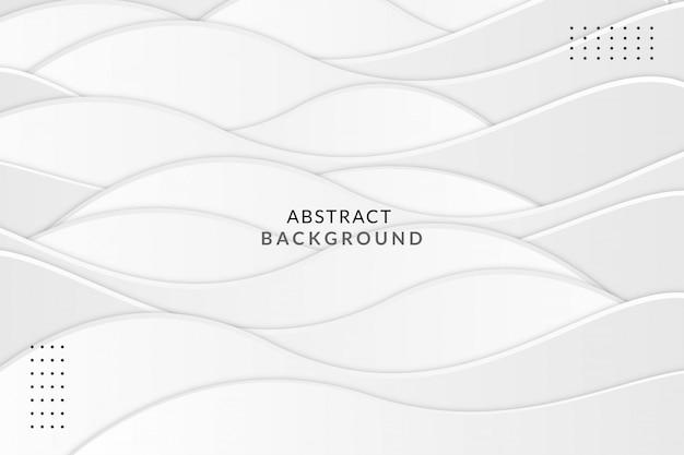 Fondo de lujo de forma de onda gris blanco abstracto