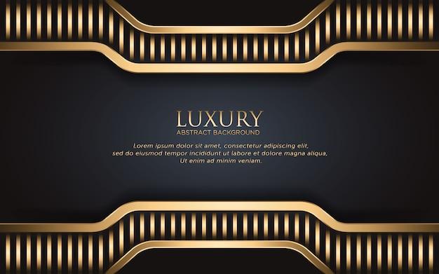 Fondo de lujo con franja dorada