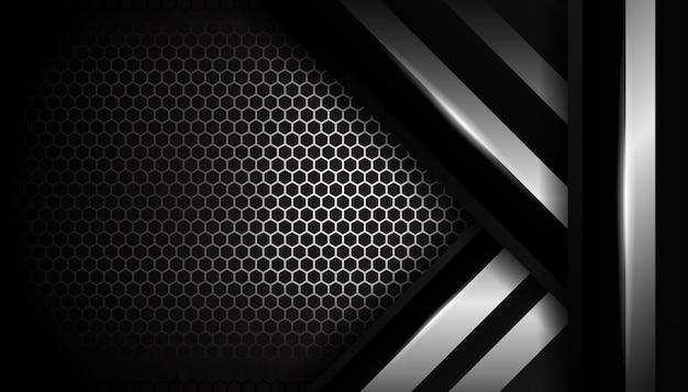 Fondo de lujo hexagonal de plata deportiva