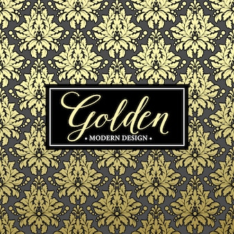 Fondo de lujo con marco dorado