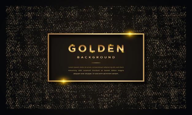 Fondo de lujo negro con brillos dorados.