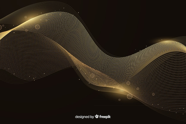Fondo de lujo con ola dorada abstracta