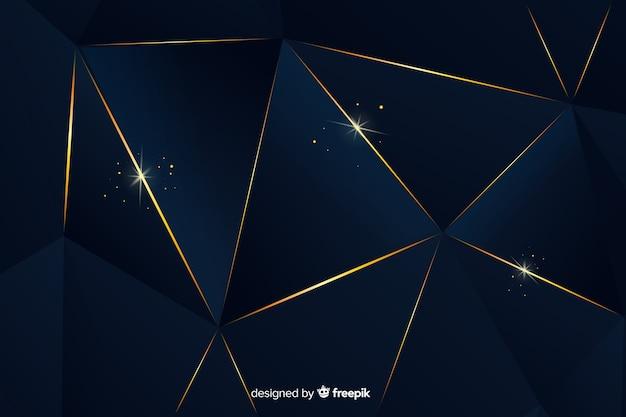 Fondo lujo oscuro poligonal