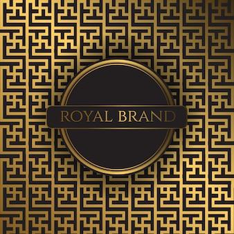 Fondo de lujo premium con color dorado
