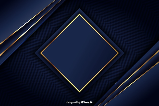 Fondo lujoso con formas geométricas doradas