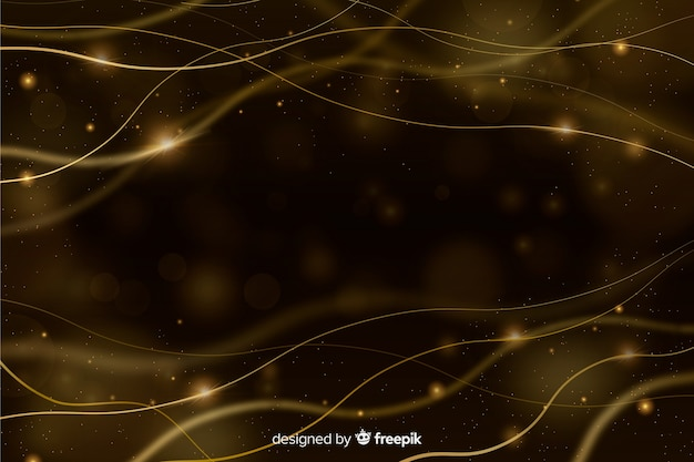 Fondo lujoso con partículas doradas