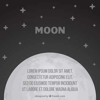 Fondo de luna con estrellas