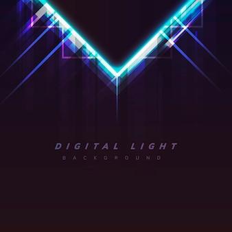 Fondo de luz digital