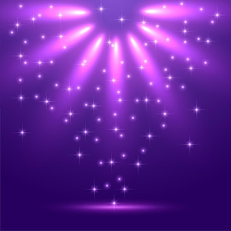 Fondo de luz mágica abstracta