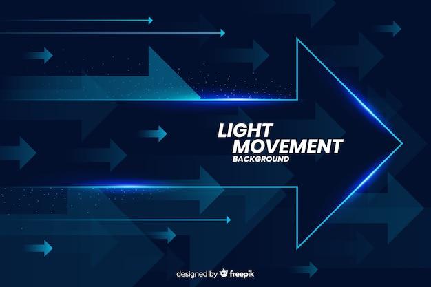 Fondo de luz en movimiento con formas abstractas