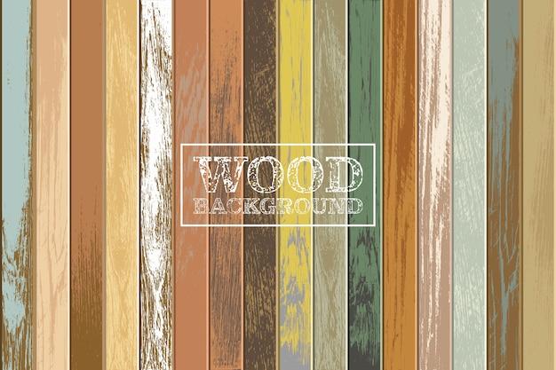 Fondo de madera vintage con colores viejos y descoloridos