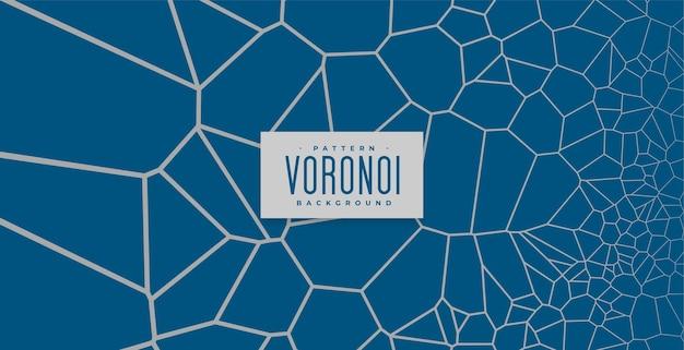 Fondo de malla de líneas de patrón de voronoi