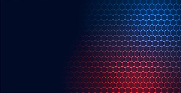 Fondo de malla de patrón de tecnología hexagonal con espacio de texto