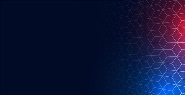 Fondo de malla de red hexagonal con espacio de texto