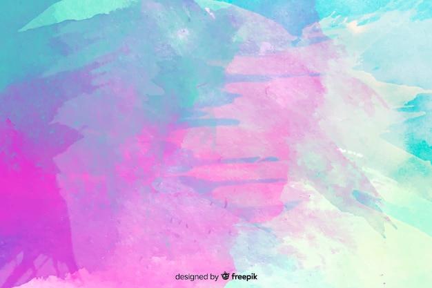Fondo de manchas abstractas y coloridas de acuarela