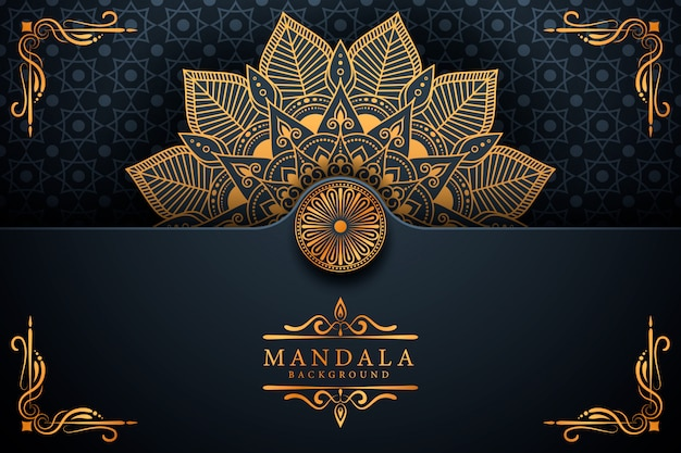 Fondo de mandala arabesco de lujo creativo