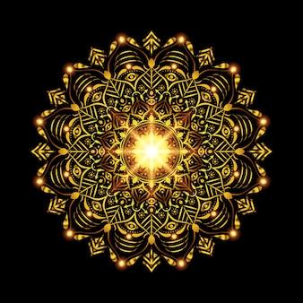 Fondo de mandala arabesco de lujo