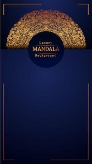 Fondo de mandala azul de lujo