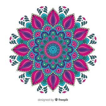Fondo de mandala colorido y hermoso