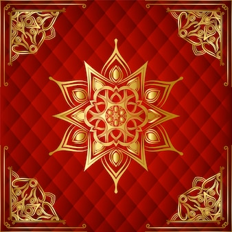 Fondo de mandala decorativo ornamental de lujo moderno con fondo arabesco dorado para uso banner, marco, floral, islámico, tarjeta de deshierbe, portada de libro, esquina, marco de esquina