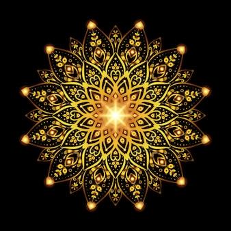 Fondo de mandala dorado de lujo