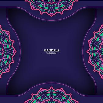 Fondo de mandala. elementos decorativos vintage. fondo dibujado a mano. islam, árabe, indio, motivos otomanos.