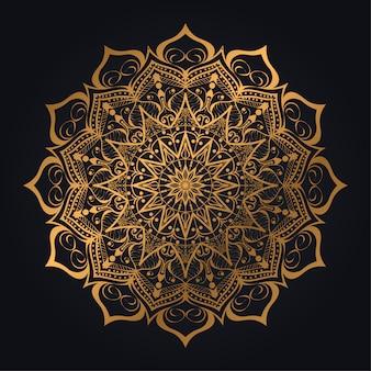 Fondo de mandala de lujo con arabesco moderno
