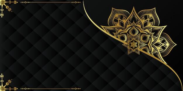 Fondo de mandala de lujo con arabescos