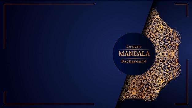 Fondo de mandala de lujo creativo con dorado