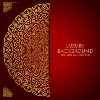 Fondo de mandala de lujo con decoración arabesca dorada estilo oriental islámico árabe