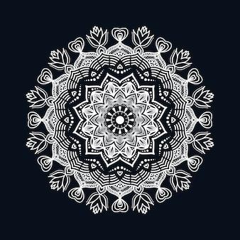 Fondo de mandala de lujo con estilo de patrón islámico arabesco