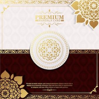 Fondo de mandala de lujo con marcos decorativos