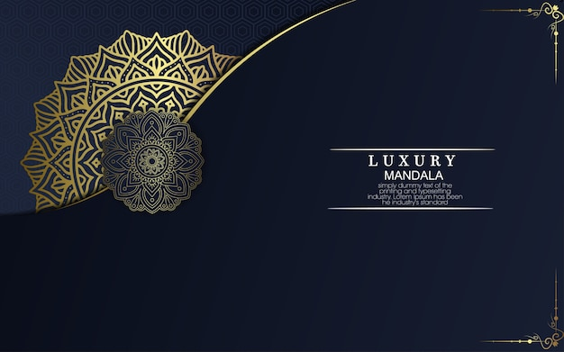 Fondo de mandala de lujo con patrón arabesco dorado estilo árabe islámico oriental