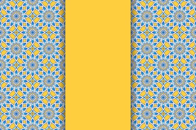 Fondo de mandala ornamental de lujo en color dorado