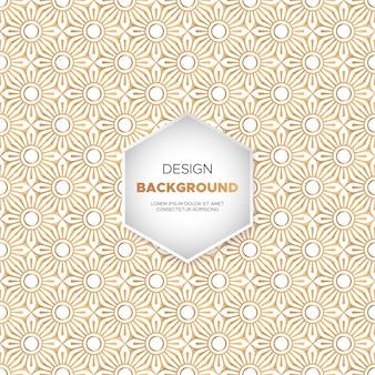 Fondo de mandala ornamental de lujo en color dorado.