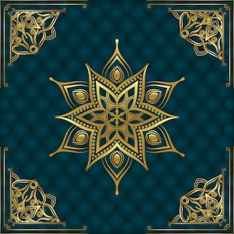Fondo de mandala ornamental de lujo moderno