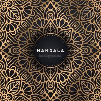 Fondo de mandala ornamental de lujo