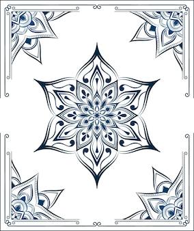 Fondo de mandala con patrón arabesco