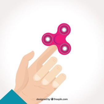 Fondo de mano jugando con spinner