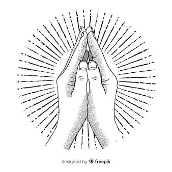 Fondo manos rezando