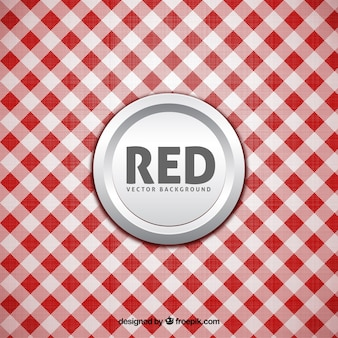 Fondo de mantel de cuadros blancos y rojos