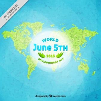Fondo de mapa del mundo verde