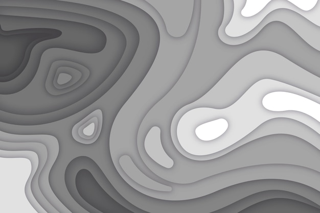 Fondo de mapa topográfico gris