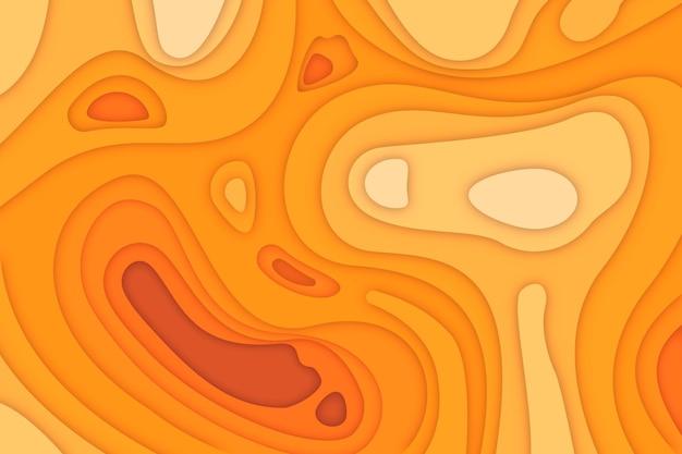Fondo de mapa topográfico naranja