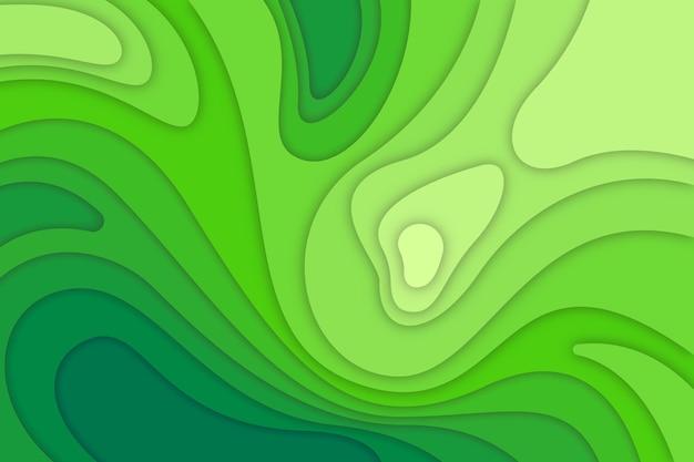 Fondo de mapa topográfico verde