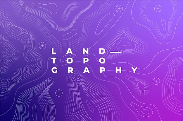 Fondo del mapa topográfico