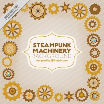 Fondo de maquinaria steampunk